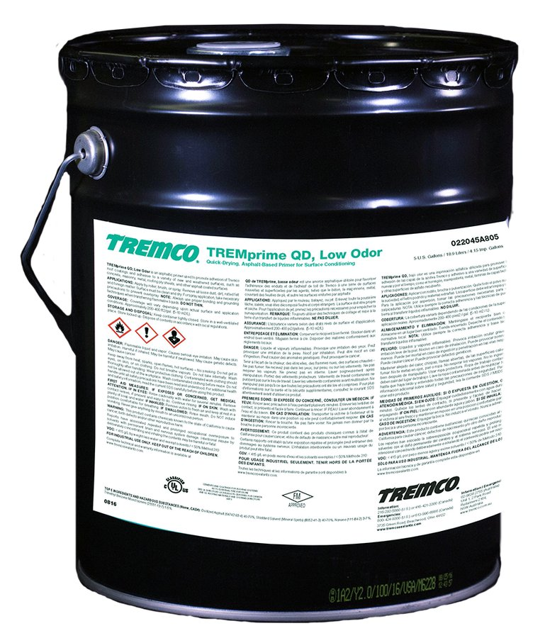 Quick Dry Low Odor Primer Tremco Tremprime Qd